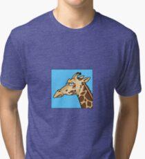 Giraffe is not amused Tri-blend T-Shirt