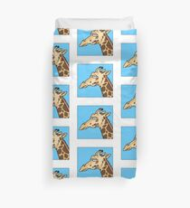 Giraffe is not amused Duvet Cover