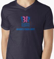Baskin Robbins Always Finds Out! Men's V-Neck T-Shirt