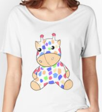 Rainbow Giraffe Plush Women's Relaxed Fit T-Shirt