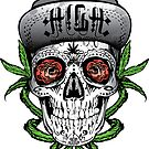 Weed Sugar skull by kushcoast