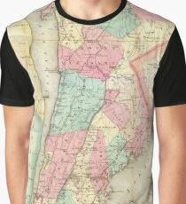 Vintage Map of Westchester New York (1864) Graphic T-Shirt