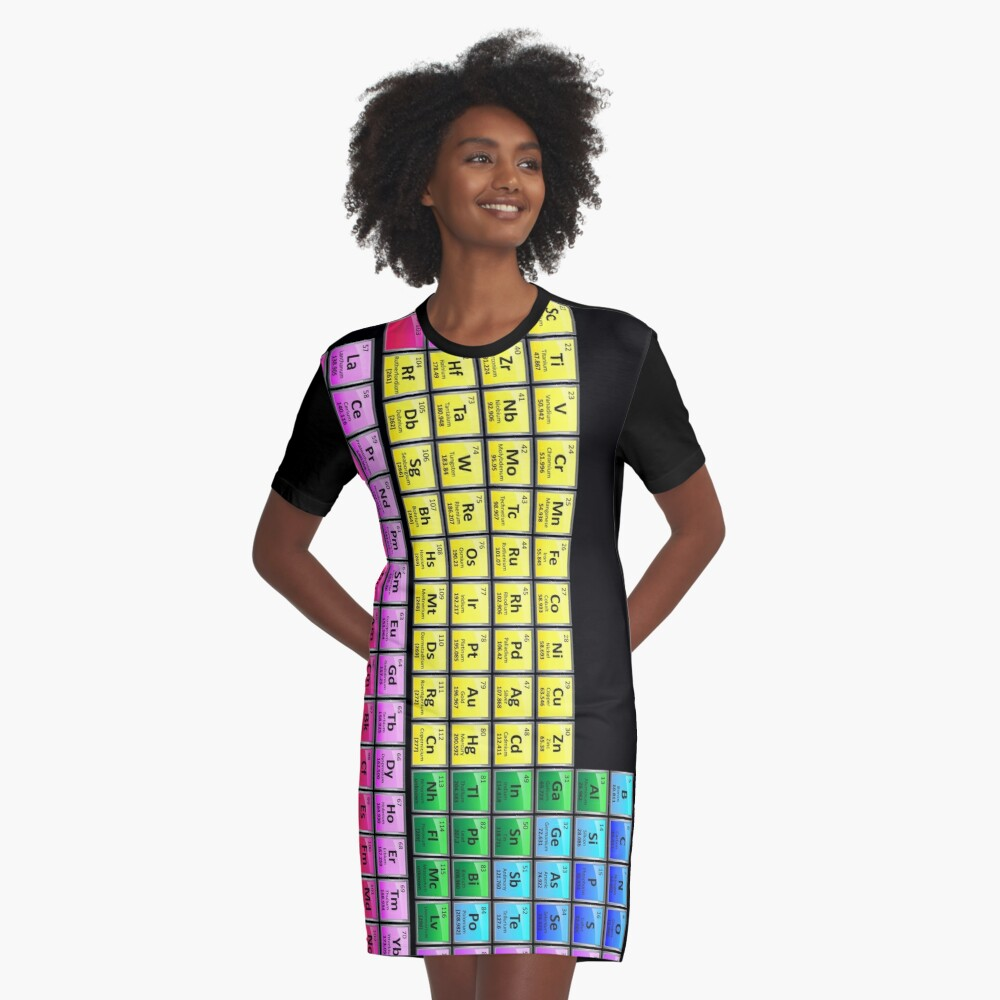118 Element Periodic Table Graphic T-Shirt Dress