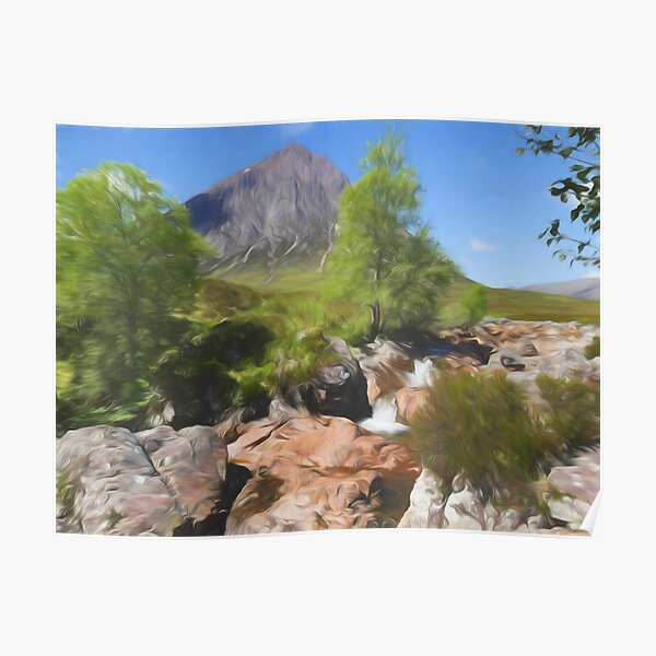 Buachaille Etive Mor , the Highlands of Scotland Poster