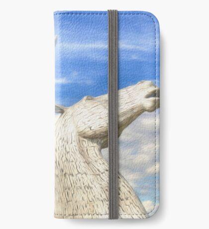 The Kelpies , Helix Park , Falkirk iPhone Wallet