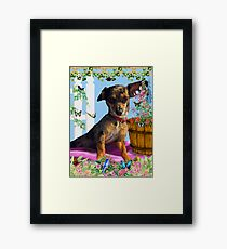 Vixen In The Fantasy GIMP Garden Framed Print