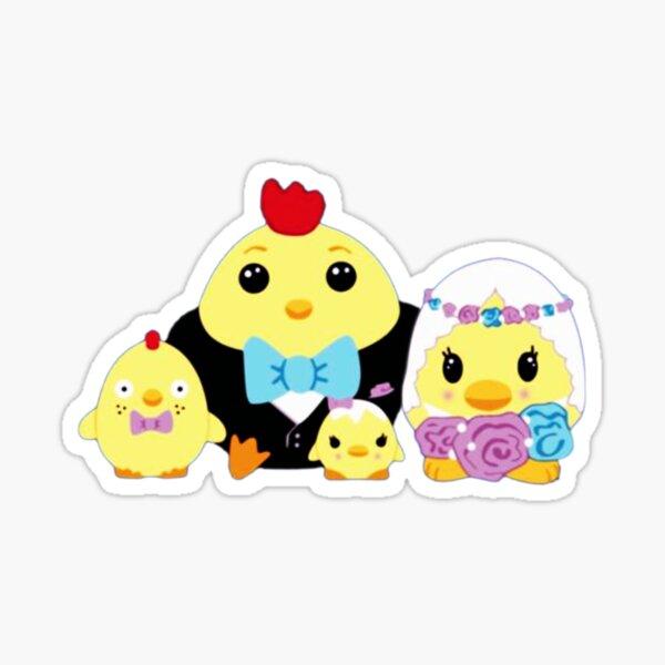 Moriah Elizabeth Bird Family Cute Squishy Sticker