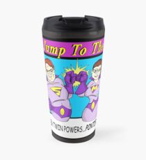Just Jump To The End Podcast Logo Travel Mug
