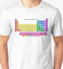 Shiny Periodic Table of the Chemical Elements Unisex T-Shirt