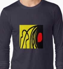 Color red yellow black Long Sleeve T-Shirt