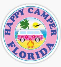 HAPPY CAMPER FLORIDA CAMPING PEACE VOLKSWAGEN HIPPIE LOVE Sticker
