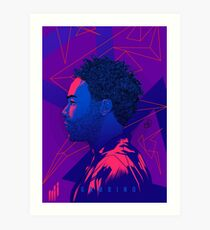 Gambino Neon Lights Art Print