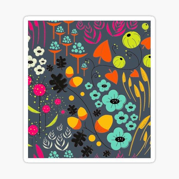 Retro Florals Sticker
