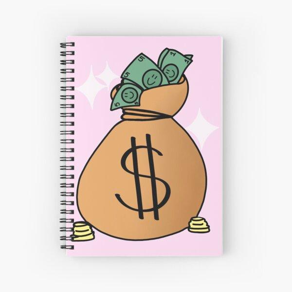 Manifestation money bag Spiral Notebook