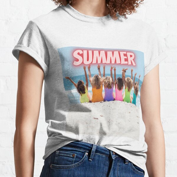 Beautiful summertime retro design Classic T-Shirt