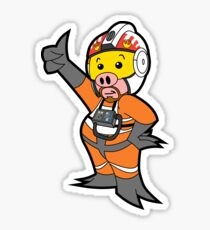 Leave it to Porkins  Sticker