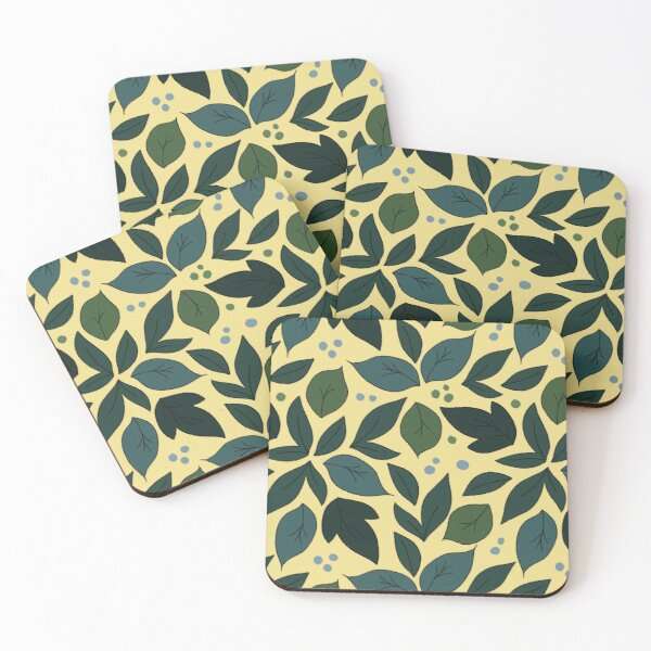 Forest Leavs Coasters (Set of 4)