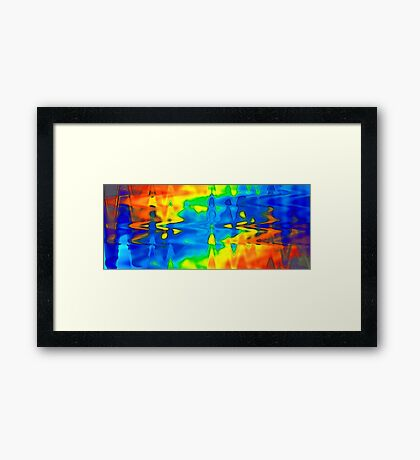 Slammin Air Blue Flame Framed Print