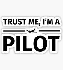 Trust me, I'm a pilot Sticker