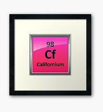 Californium Periodic Table Element Symbol Framed Print