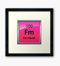 Fermium Periodic Table Element Symbol Framed Print