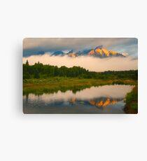 Teton Mountains from Schwabacher Landing Canvas Print