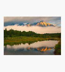 Teton Mountains from Schwabacher Landing Photographic Print