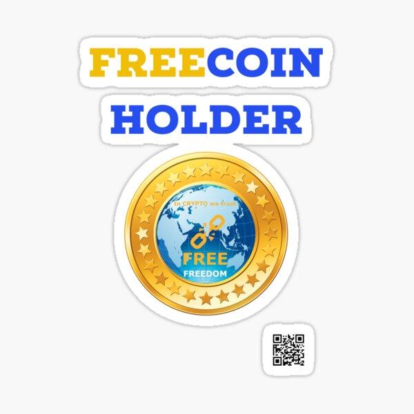 Titulaire FREECOIN, GRATUIT Sticker