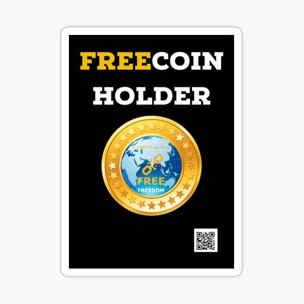 Freecoin titulaire, gratuit Sticker