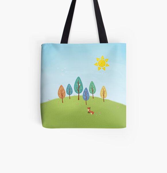 Sweet Fox Daydreams All Over Print Tote Bag