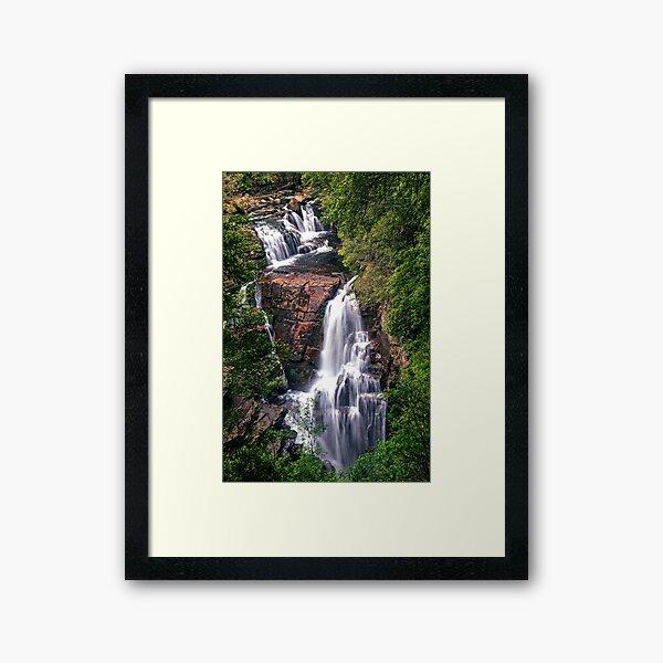 D'Alton Falls - Overland Track Tasmania Australia Framed Art Print