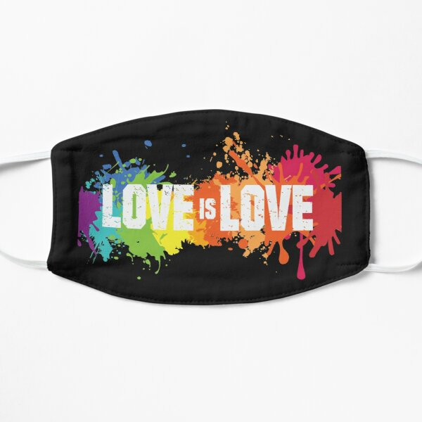 Love is love LGBTQ gay pride Flat Mask
