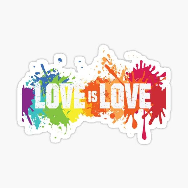 Love is love LGBTQ gay pride Sticker