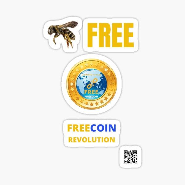 Soyez libre, Freecoin Sticker