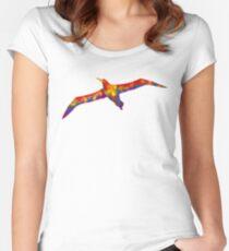 Rainbow Soaring Albatross Women's Fitted Scoop T-Shirt