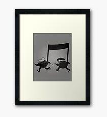 Chase scene music. Framed Print