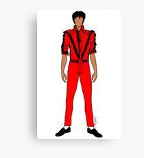Thriller Red Jackson Canvas Print