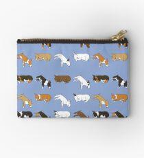 Lazy Bull Terrier - Blue Studio Pouch