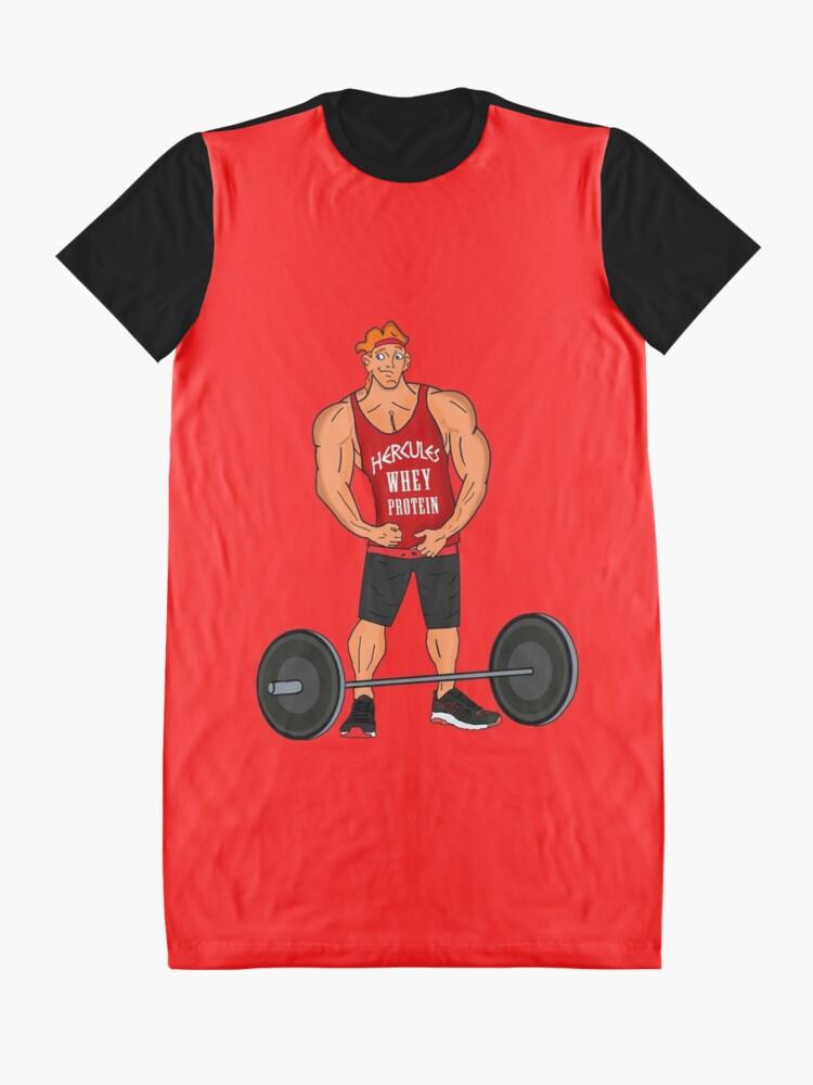 Alternative Ansicht von Hercules Molkenprotein T-Shirt Kleid