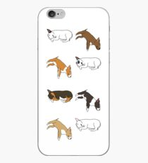 Lazy Bull Terrier - White iPhone Case