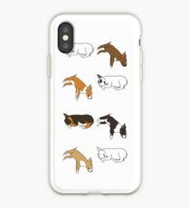 Lazy Bull Terrier - White iPhone Case
