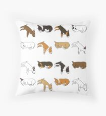 Fauler Bullterrier - Weiß Kissen