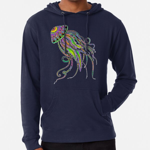 Electric Jellyfish Lightweight Hoodie