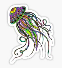 Electric Jellyfish Sticker