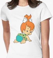 Pebbles Flintstones Womens Fitted T-Shirt