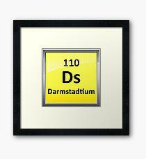 Darmstadtium Periodic Table Element Symbol Framed Print