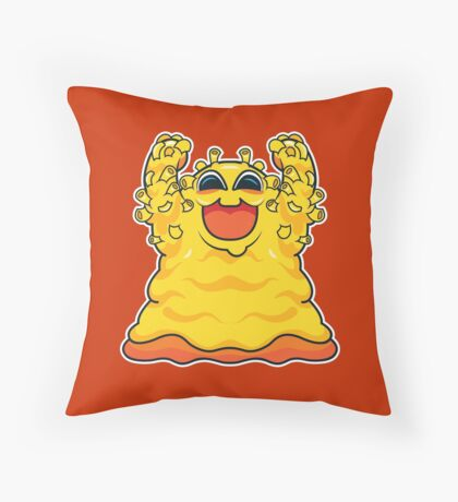 Macaroni Monster Throw Pillow