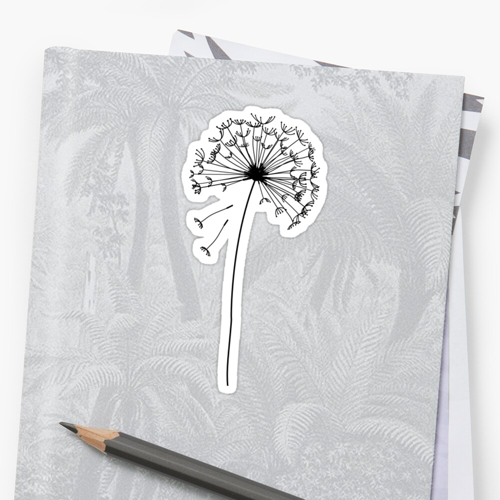 Floral pattern of dandelions Stickers