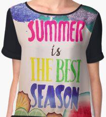 Summer is the best season Chiffon Top