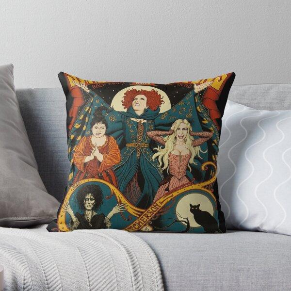 Sanderson Sisters Halloween Throw Pillow
